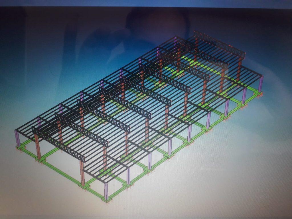 Modello tridimensionale struttura metallica